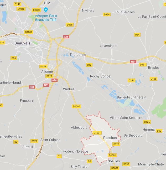 Ponchon Oise Carte
